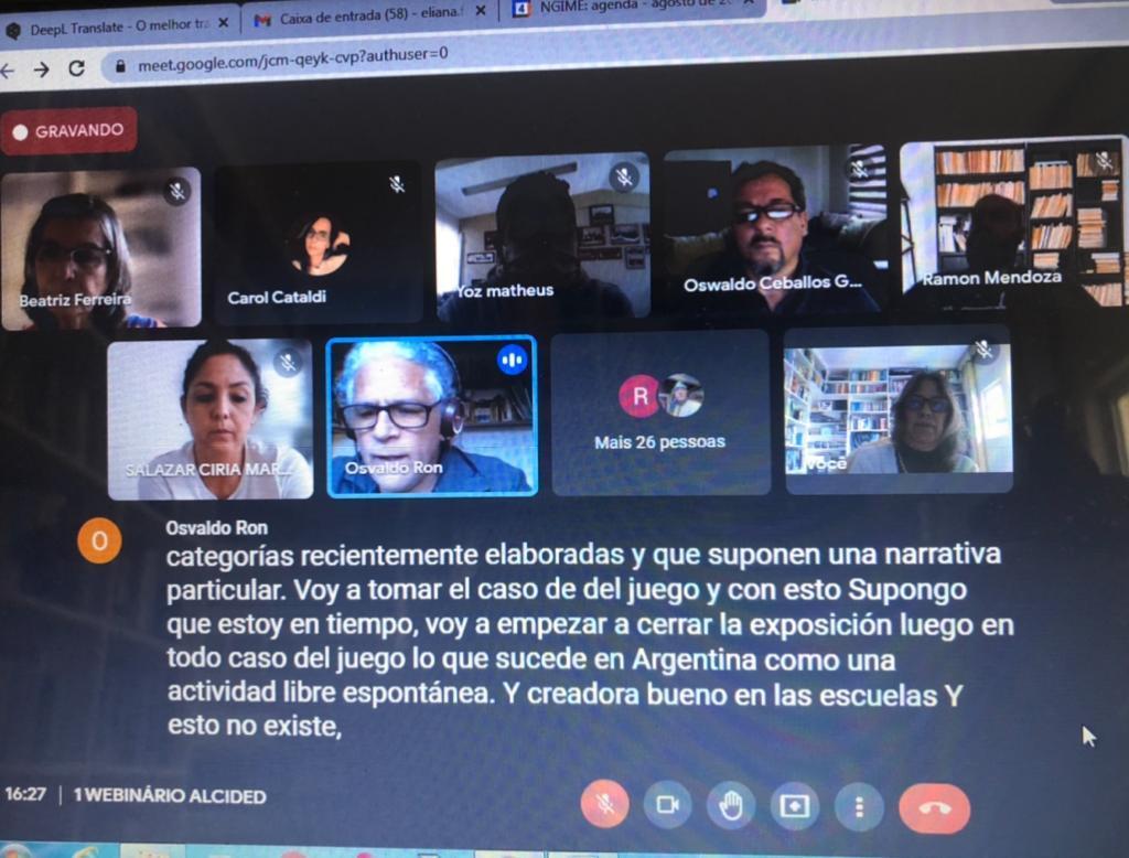Read more about the article Webnario del area de Pedagogya, Educación Fisica y Desporte